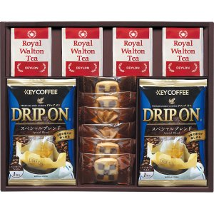 ドリップコーヒー&クッキー&紅茶アソートギフト KEYCOFFEE(KC-25)(19sr_7646-028)|j-gift