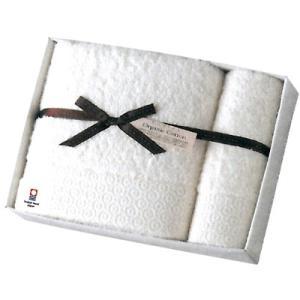コンテックス ピュアオーガニック バスタオル×1・フェイスタオル1(アイボリー・ベージュ)(KBG-6777) j-gift