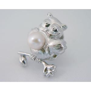 愛媛県宇和島産真珠 動物タイタック(ふくろう)(松本真珠)|j-gift