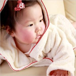 オルネット oh dear!オーガニックパイルバスローブ 有料お名入れ 赤ちゃんに安心な認定オーガニックコットン使用(OGBW102RE-BR(90))|j-gift