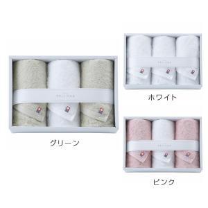 今治タオル やさしいたおる(新)(YT-18300)フェイスタオル×3 ホワイト・ピンク・グリーン(19ss_2-78/86/94)|j-gift