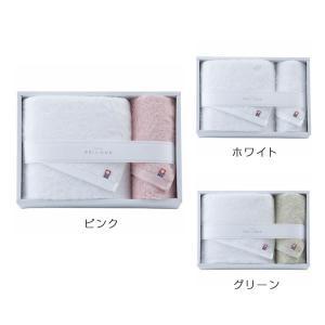 今治タオル やさしいたおる(新)(YT-18400)大判バスタオル×1・フェイスタオル×1 ホワイト・ピンク・グリーン(19ss_2-107/115/123)|j-gift