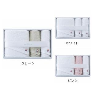 今治タオル やさしいたおる(新)(YT-18500)大判バスタオル×1・フェイスタオル×2 ホワイト・ピンク・グリーン(19ss_2-131/140/159)|j-gift