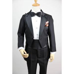 9643b87494046 ... 子供燕尾服 キッズ タキシード 子供服 キッズ フォーマル 男の子 白黒2色 結婚式 ピアノ 発表 ...