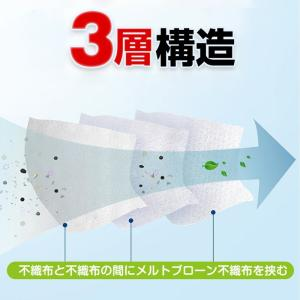 【在庫あり】【埼玉県より翌営業日までに発送】マスク 50枚 普通サイズ 不織布マスク 3層構造 使い捨て 箱入り 大人用 コロナウィルス対策 43msk01|j-grows|08