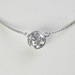 ダイヤモンド ネックレス 一粒 プラチナ 0.5カラット 鑑定書付  0.52ct Fカラー VVS2クラス 3EXカット GIA|j-jewelry|01