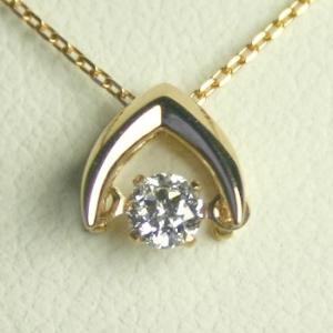 ダンシングストーン ネックレス ダイヤモンド プラチナ 0.3カラット 鑑定書付 0.303ct Dカラー SI1クラス 3EXカット H&C CGL|j-jewelry|01