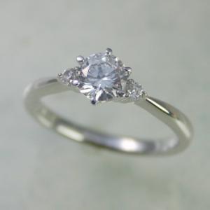 エンゲージリング ダイヤモンド 安い 0.3カラット 鑑定書付 0.337ct Dカラー VS1クラス 3EXカット H&C CGL|j-jewelry|01