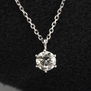 ダイヤモンド ネックレス 一粒 プラチナ 0.3ct 鑑定書付きダイヤモンド 0.339ct Fカラー VS2クラス 3EXカット H&C CGL j-jewelry 01