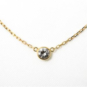 ダイヤモンド ネックレス 一粒 ゴールド 0.2カラット 鑑定書付 0.253ct Fカラー VVS1クラス 3EXカット H&C CGL 通販|j-jewelry|01