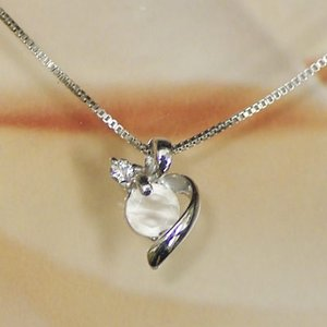 ホワイト ゴールド 誕生石 ネックレス 6月 ブルームーン ダイヤモンド ペンダント K18WG 幸せをはこぶ 誕生石 記念日 誕生日|j-kimura