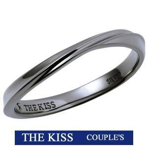 2019年 ホワイトデー限定 THE KISS  シルバー ペアリング メンズ 1本販売 SV925製 ダイヤモンド 指輪 THEKISS ブラックロジウムコーティング 2019-01RBK-DM|j-kimura