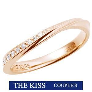 2019年 クリスマス限定 THE KISS  シルバー ペアリング レディース 1本販売 SV925製 ダイヤモンド 指輪 THEKISS ピンクゴールドコーティング 2019-01RPI-DM|j-kimura