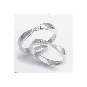 結婚指輪 安い 婚約指輪 マリッジリング ペアリング ホワイトゴールド WGK10製 レディース リングの内側にブルーダイヤ入 送料無料 刻印無料 二人の絆|j-kimura