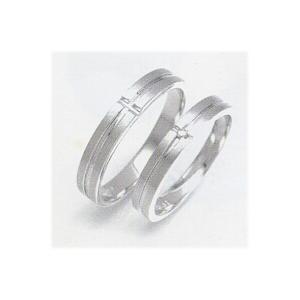 結婚指輪 安い 婚約指輪 マリッジリング ペアリング ホワイトゴールド WGK10製 レディースリング 内側にブルーダイヤ入り 送料無料 刻印無料 二人の絆|j-kimura