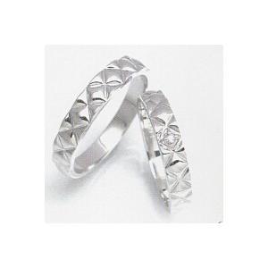 結婚指輪 安い 婚約指輪 マリッジリング ペアリング ホワイトゴールド K10WG製 レディースリングにダイヤ入り 送料無料 刻印無料二人の絆|j-kimura