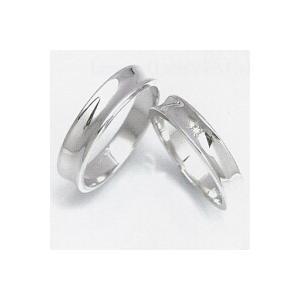 結婚指輪 安い 婚約指輪 マリッジリング ペアリング ホワイトゴールド WGK10製 レディース リングの内側にブルーダイヤ入り 送料無料 刻印無料 二人の絆|j-kimura