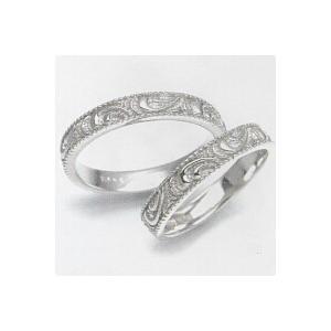 結婚指輪 安い 婚約指輪 マリッジリング ペアリング ホワイトゴールド K10WG製 レディース リングの内側にブルーダイヤ入り 送料無料 刻印無料 二人の絆|j-kimura