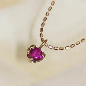 ピンクゴールド 誕生石 ネックレス PGK18製 7月 誕生石 ルビー ハート ネックレス ペンダント 幸せの絆 幸せをはこぶ誕生石をプレゼントに|j-kimura