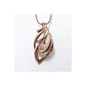 レディースネックレス ピンクゴールド K10PG製 巻貝の中に1石のダイヤモンドの宝石 送料無料|j-kimura