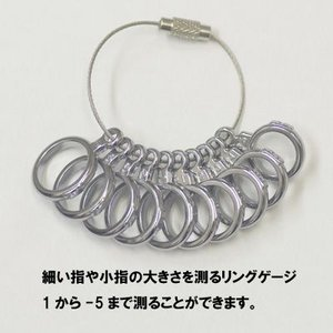 指の細い人や小指のサイズ簡単に測れます ピンキーリングゲージ(1から-5号) ☆ピンキーリングサイズゲージ メール便/郵便代引OK  |j-kimura