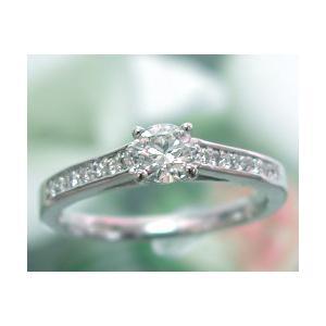 婚約指輪 ダイヤモンド エンゲージリング プラチナ 0.3ct D VVS1 エクセレント サイドダイヤ14p 鑑定書付 大粒 j-kimura
