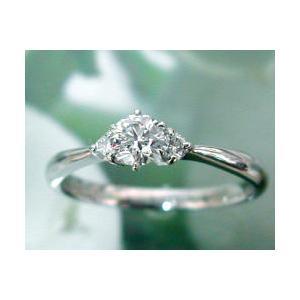 婚約指輪 ダイヤモンド エンゲージリング プラチナ 0.3ct D IF エクセレントハート&キューピッド  サイドダイヤ枠2P 大粒 j-kimura