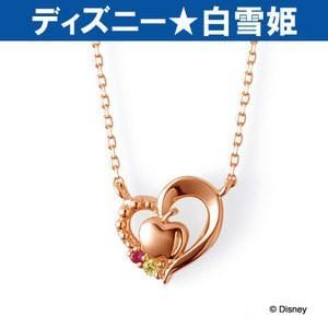ネックレス ディズニー プリンセス 白雪姫 THE KISS ピンクゴールド K10PG レディース 40cm ルビー イエローサファイア DI-PN1812YSP|j-kimura