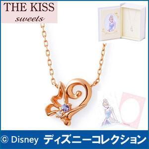 ネックレス ディズニー プリンセス シンデレラ THE KISS ピンクゴールド レディース 40cm ダイヤモンド K10PG DI-PN1824DM|j-kimura