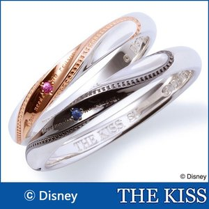 年内不可■ペアリング ディズニー ドナルド デイジー 指輪 THE KISS ピンクサファイヤ サファイヤ シルバー SV925 DI-SR6012PSP-DI-SR6013SP 受注生産1ヵ月程度|j-kimura