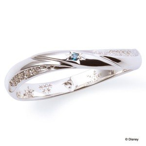 ペアリング ディズニー アナと雪の女王 指輪 THE KISS シルバー SV925  レディース ブルーダイヤモンド キュービック DI-SR6014BDM|j-kimura