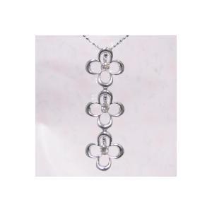 ホワイトゴールド ダイヤヤモンド ネックレス K18WG製 0.3ct 揺れてとてもゴージャス 送料無料|j-kimura