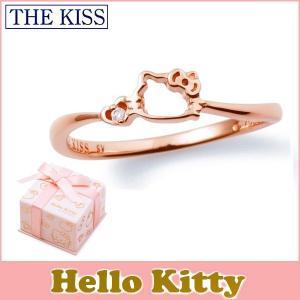 ハローキティ HELLO KITTY コラボ THE KISS シルバー リング レディース SV925 フェイスモチーフ ピンクコーティング x ダイヤモンド KITTY-12DM|j-kimura