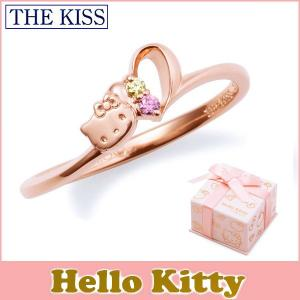 ハローキティ HELLO KITTYxTHE KISSコラボ THE KISS シルバー リング レディース SV925 ハートモチーフ ピンクコーティング キュービックジルコニア KITTY-15CB|j-kimura