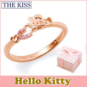 ハローキティ HELLO KITTY コラボ THE KISS シルバー リング レディース SV925 フェイス ハート ピンクコーティング キュービックジルコニア KITTY-22CB|j-kimura