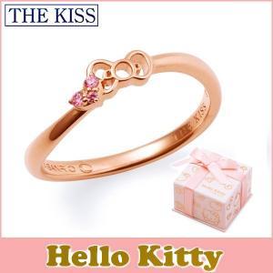 ハローキティ HELLO KITTY コラボ THE KISS シルバー リング レディース SV925 リボンモチーフ ピンクコーティング キュービックジルコニア KITTY-23CB|j-kimura