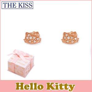 ハローキティ HELLO KITTY コラボ THE KISS sweets ピアス K10ピンクゴールド キティーフェイス ダイヤモンド KITTY-32DM|j-kimura