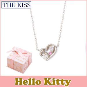 ハローキティ コラボ THE KISS シルバー ネックレス レディース SV925 ダイヤモンド KITTY-36DM|j-kimura