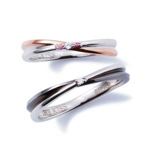 年内不可■ペアリング THE KISS SV925製 ペア販売 ピンク ブラック ダイヤ キュービック THEKISS BOX SR6064DM SR6065DM|j-kimura