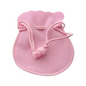 ジュエリーポーチ  ピンク スエード調 巾着袋 アクセサリーポーチ 携帯用 ラージ大サイズ 彼女  誕生日 クリスマス プレゼント ジュエリー アクセサリー