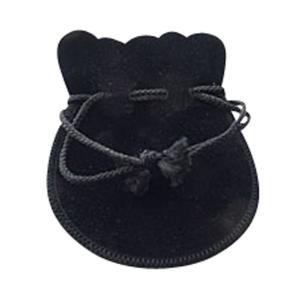 ジュエリーポーチ ブラック スエード調 巾着袋 アクセサリーポーチ 携帯用 ラージ大サイズ 彼女  誕生日 クリスマス プレゼント ジュエリー アクセサリー