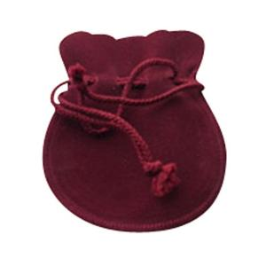 ジュエリーポーチ エンジ スエード調 巾着袋 アクセサリーポーチ 携帯用 ミラージ大サイズ 彼女  誕生日 クリスマス プレゼント ジュエリー アクセサリー