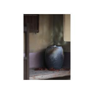 水琴窟 すいきんくつ 重蔵窯 HAMON 光の琴音-200 青古信楽