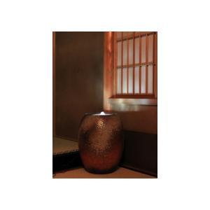 水琴窟 すいきんくつ 重蔵窯 HAMON 光の琴音-201 火色古信楽