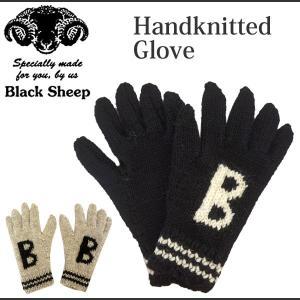 BLACK SHEEP ブラックシープ ウールニット 手袋 レディース ハンドニット グローブ Handknitted GLOVE INITIAL B 2017秋冬新作 j-piaplus