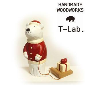 T-Lab ティーラボ シロクマサンタ  ハートプレゼント インテリア 木製 WDSIROKUMASNTP 2017秋冬新作 メーカーPRICE:1,100yen(+tax)|j-piaplus