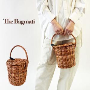 [20%off] The Bagmati バグマティ かごバッグ バケツ型 バスケット  ウィッカー ラタン レザー 着脱ファー付  蓋付き BBK18-120|j-piaplus