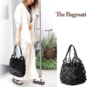 The Bagmati バグマティ フィッシュネットバッグ レディース 巾着 メッシュバッグ 本革 ハンドバッグ トートバッグ かごバッグ BBK20-SS10|j-piaplus