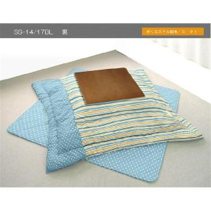 フラワー 掛け敷き布団セット 長方形 BL リバーシブル |j-plan