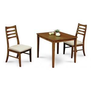 ダイニング3点セット テーブル チェアー ブライト2色対応 ブラウン ナチュラル ハイバック |j-plan